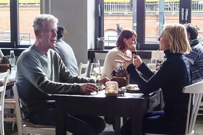 Anthony Bourdain dined in Berlin with Ellen Allien in his latest episode of 'Parts Unknown'