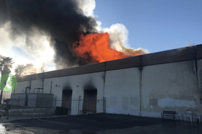 A fire has destroyed the Apollo/Transco vinyl manufacturing facility