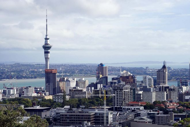 A one-person anti-lockdown protest in New Zealand was broken up by police