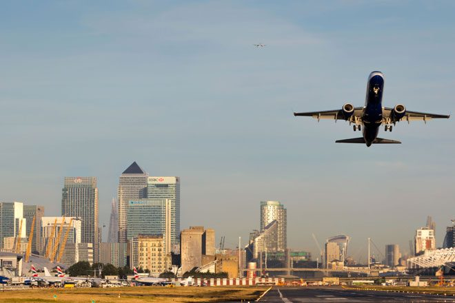 Brian Eno's 'Ambient 1: Music for Airports' is playing on loop at London City Airport