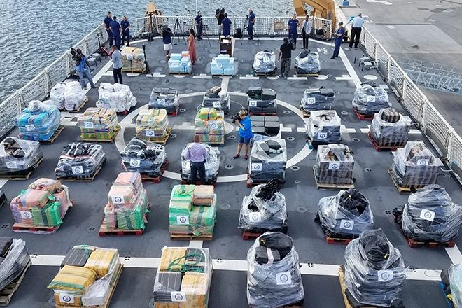 Over 12 tons of seized cocaine offloaded in Miami