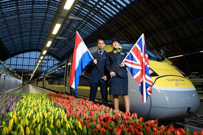 Eurostar will soon run three trains from London to Amsterdam a day