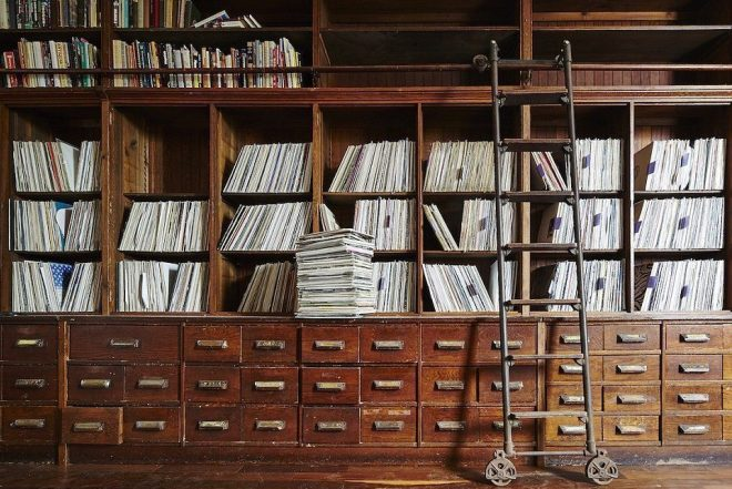 Get a glimpse of Frankie Knuckles' record collection