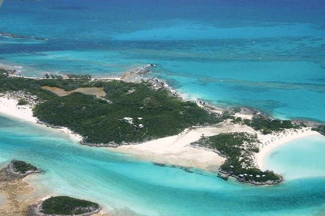 The private island in the Fyre Festival promo is for sale