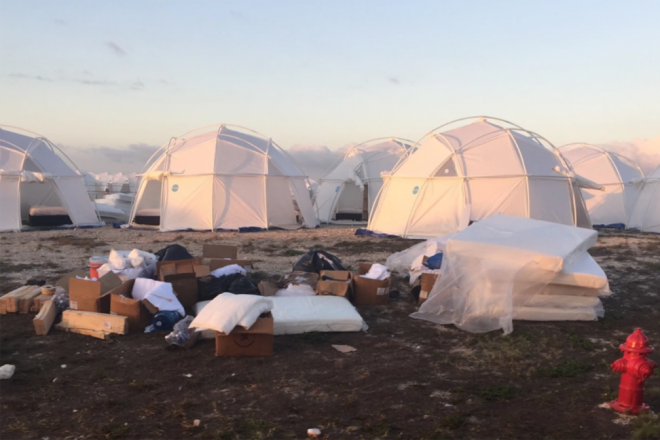 "Two Fyre Festival attendees have won $5 million for their ""pain and suffering"""