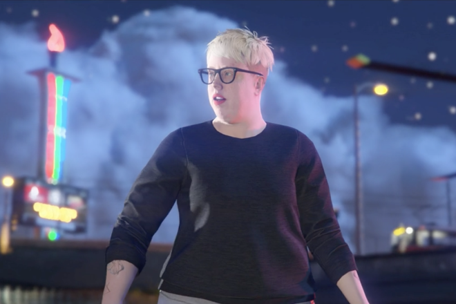 The Black Madonna punches a cop in the new Grand Theft Auto trailer