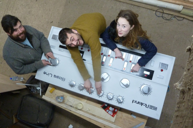 There's a giant replica of the Roland TB-303 and it's completely functional