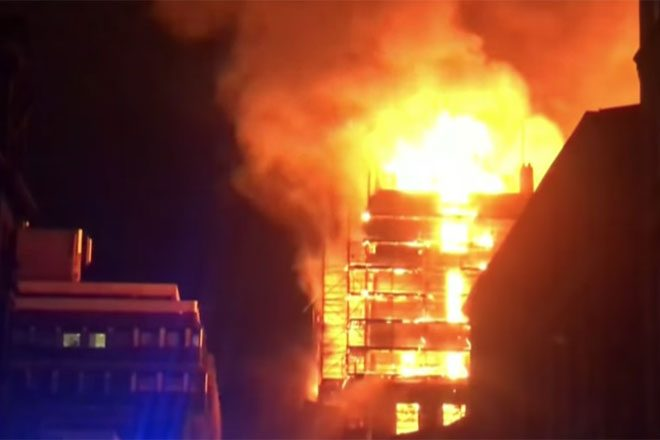Glasgow School of Art devastated by second fire in four years