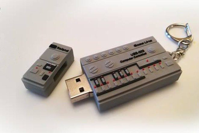 '10 Years of I Love Acid' compilation comes on a 303-shaped USB stick