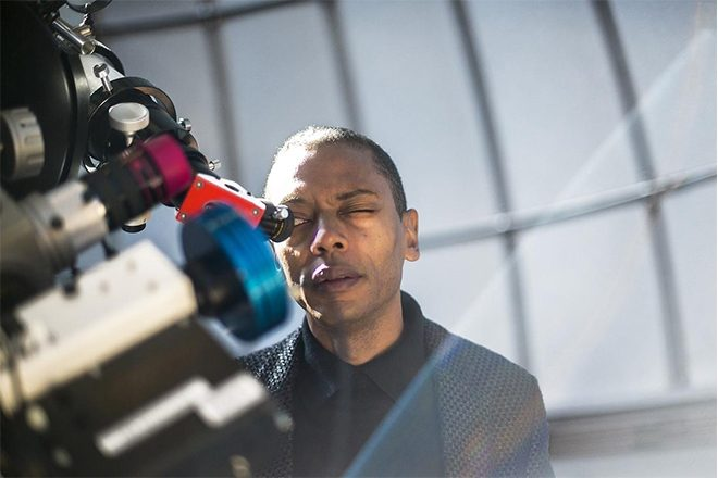 Jeff Mills scores the lunar surface for his Outer Limits series on NTS