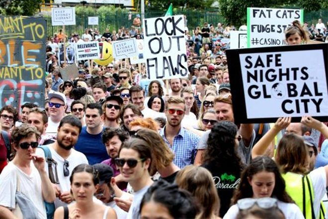 ​Rally in support of festival pill testing organized in Sydney