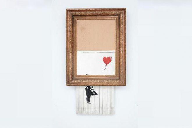 Banksy's self-destructed artwork back on sale at Sotheby's