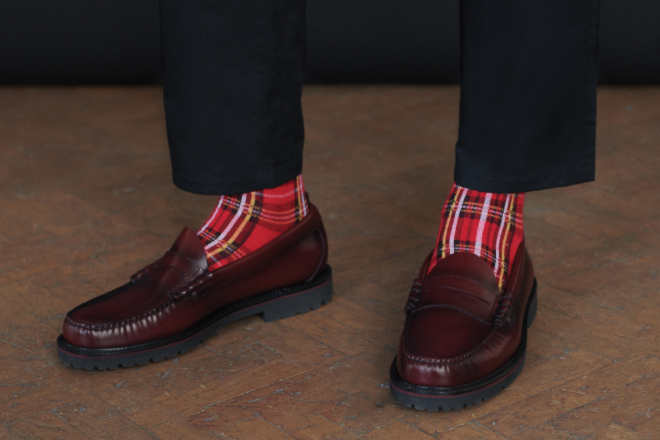 Fred Perry and G.H. Bass & Co. rework two adaptations of their iconic leather Weejuns