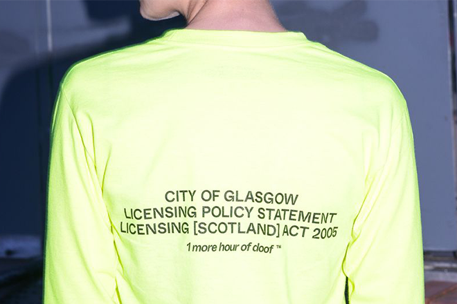 Glasgow label Party Chat release tees in celebration of extended nightclub hours