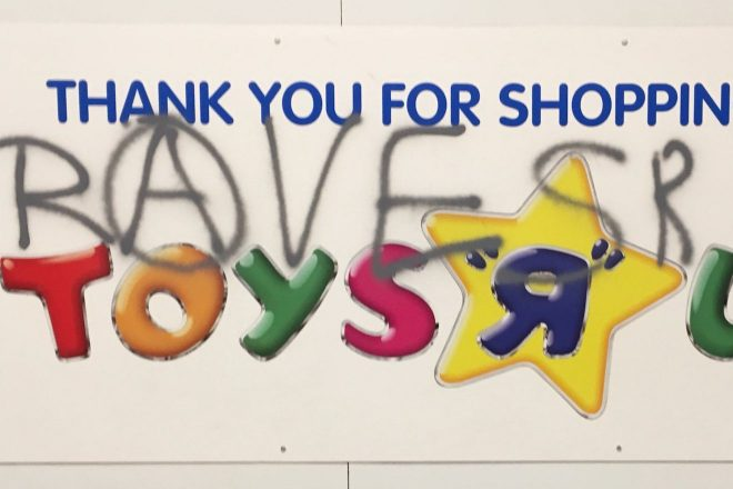 Police shut down an illegal rave in an abandoned Toys 'R' Us