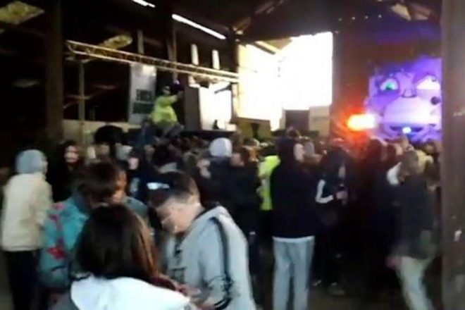 Police allowed illegal rave with 700 people to carry on for 12 hours