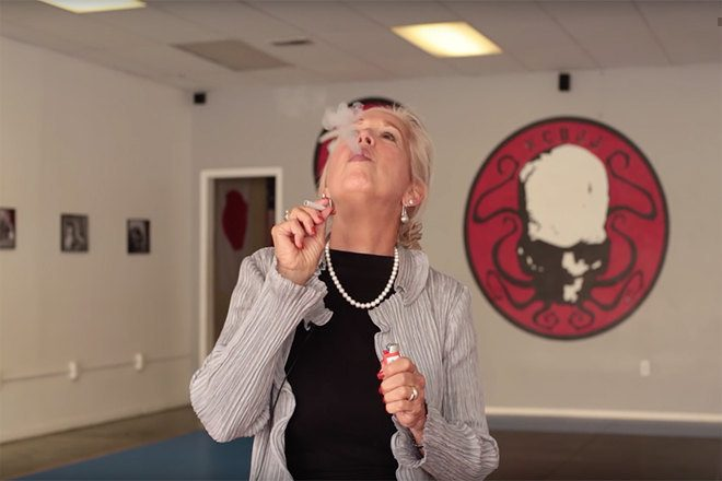Watch grandparents get stoned and listen to rap music for the first time