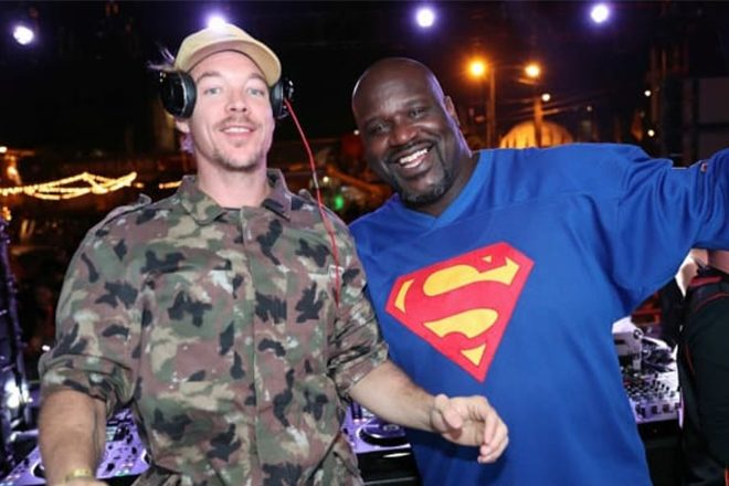 Shaquille O'Neal is working on music with Diplo