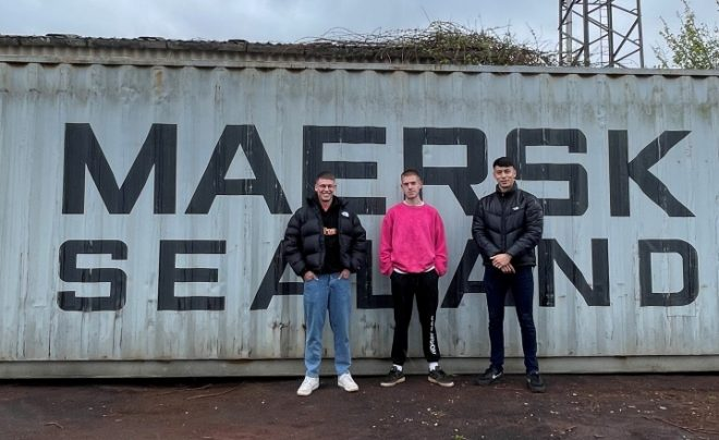 A group of friends from Bristol have built a studio in a shipping container