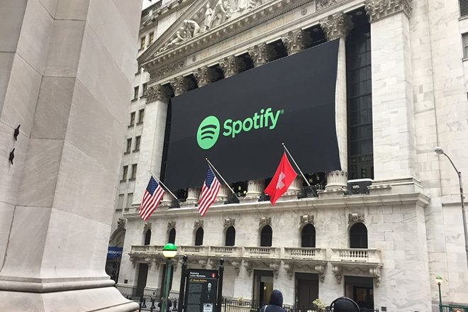 Spotify goes public valued at $30 billion with a flag mix-up