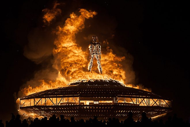 The festival-goer who ran into the Burning Man fire has died