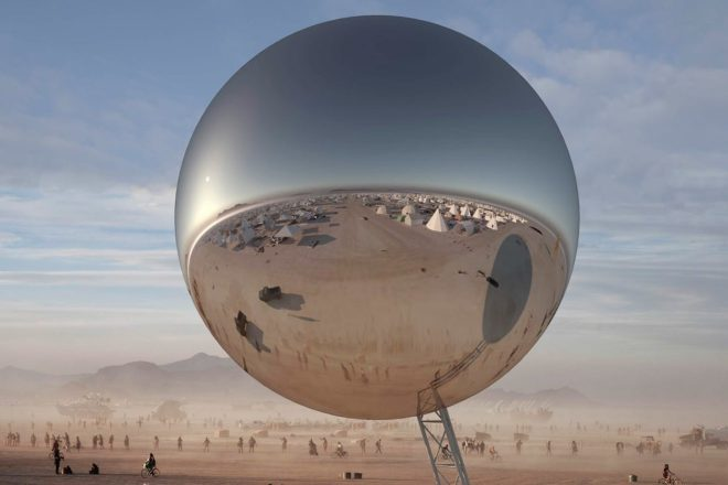 """A giant 100-foot-tall """"disco ball"""" is heading to Burning Man this year"""