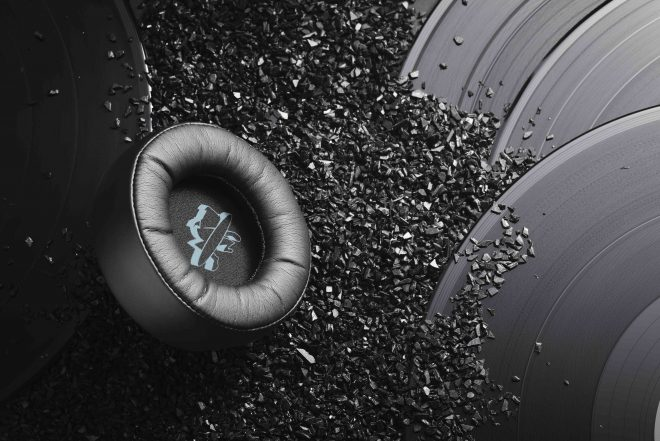 You can now buy headphones made out of recycled vinyl