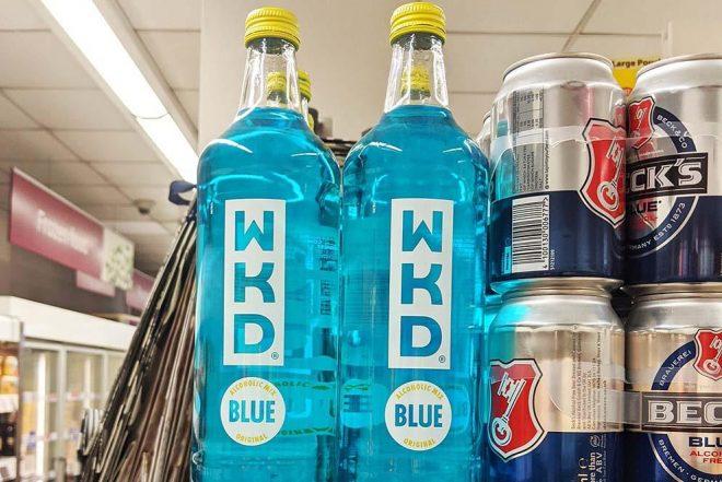 A Blue WKD haul worth £280,000 has been stolen by burglars in Scotland