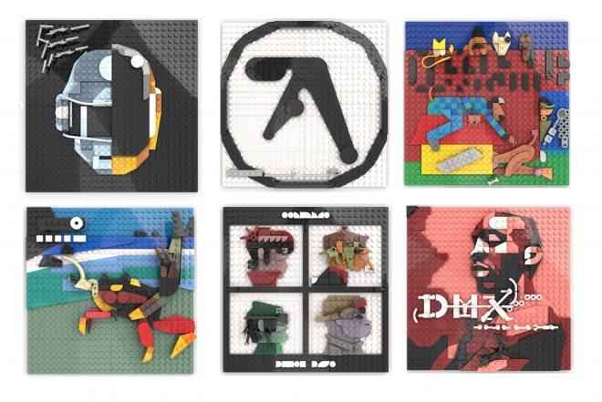 LEGO artist has recreated album covers from Gorillaz, Daft Punk, and Aphex Twin