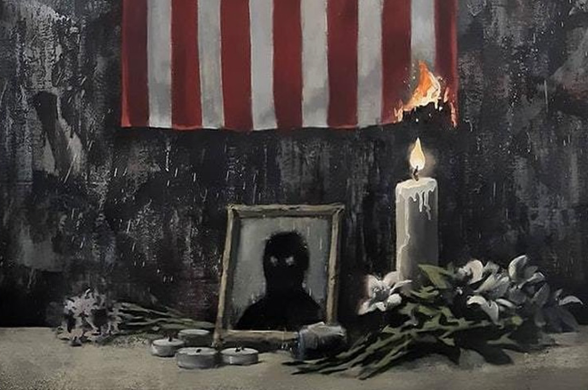 Banksy's latest artwork supports the Black Lives Matter movement