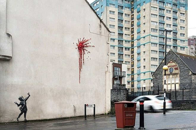 Banksy has made a Valentine's Day mural