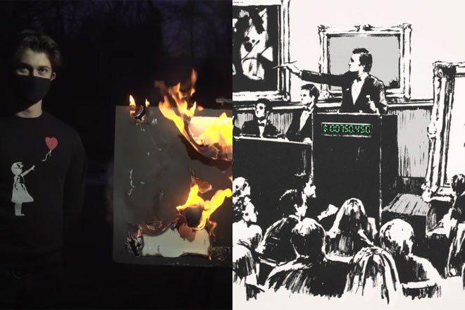 Someone burned a Banksy artwork then sold a digital version for $382,000
