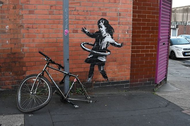 A Banksy artwork has been removed and people aren't happy