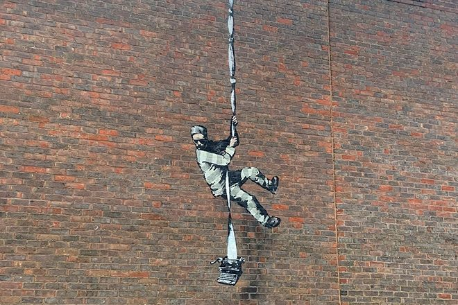 Banksy confirms he created artwork on the walls of Reading Prison