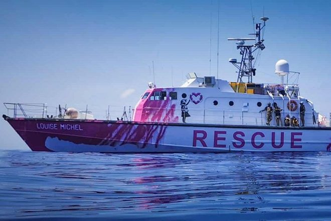 Banksy Has Been Funding A Refugee Rescue Boat Operation In The Mediterranean