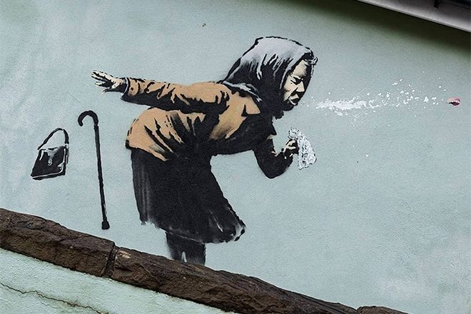 Banksy confirms he's behind sneezing mural in Bristol