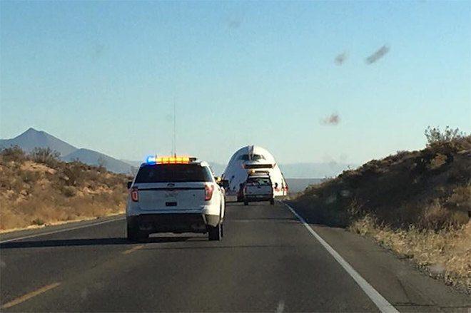 Burning Man's Boeing 747 art car shuts down roads en route to Black Rock City