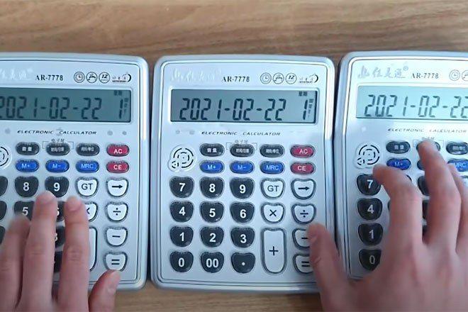 A YouTuber has recreated classic Daft Punk tracks using desktop calculators