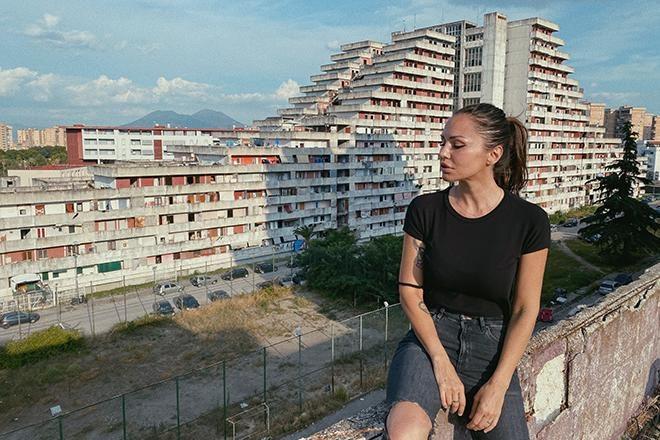 We're streaming Deborah De Luca from Naples' Vele di Scampia district