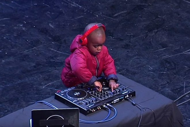 Got Talent's youngest ever star? Super cute three-year-old DJ blows away viewers