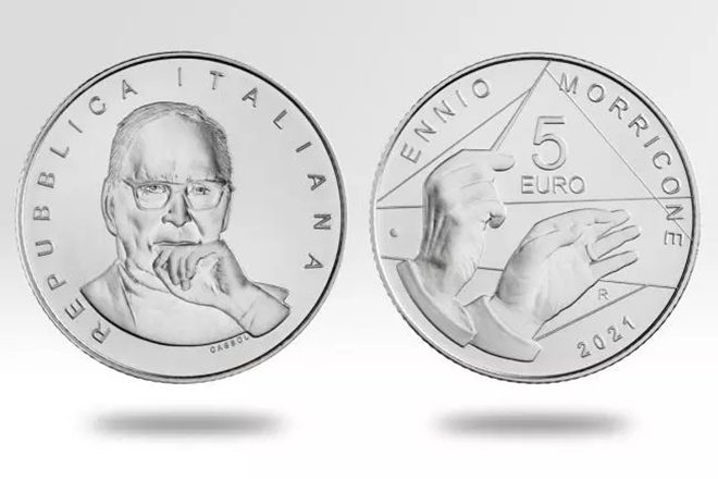 Ennio Morricone has been commemorated with a new €5 coin