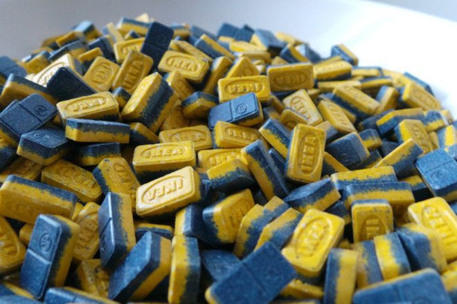Police have issued warnings about extra strong IKEA ecstasy pills
