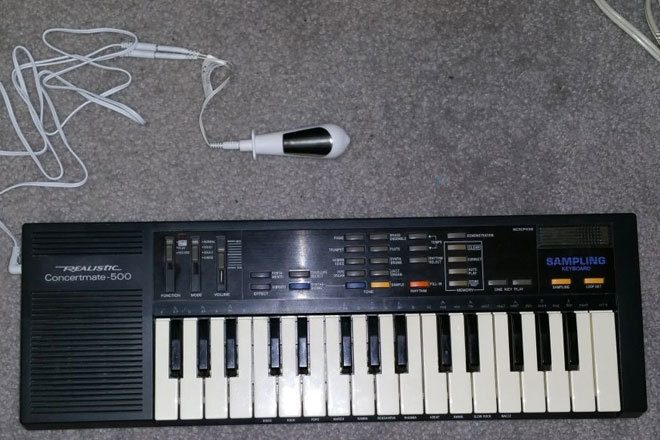 This Casio keyboard has been turned into a sex toy