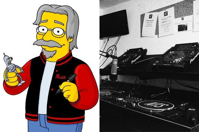 The Simpsons' Matt Groening is DJing on NTS and we're totally here for it