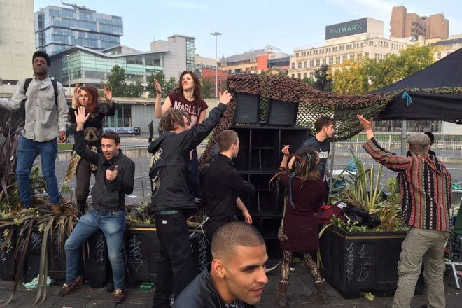 Anti-austerity protestors raved for 40 hours straight in Manchester this weekend