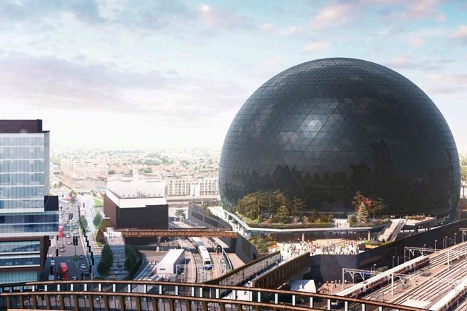 Plans go in for giant entertainment sphere in Stratford