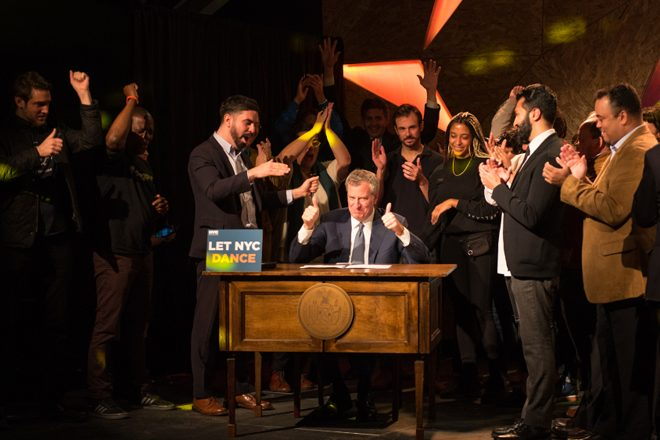 New York's Cabaret Law has officially been repealed
