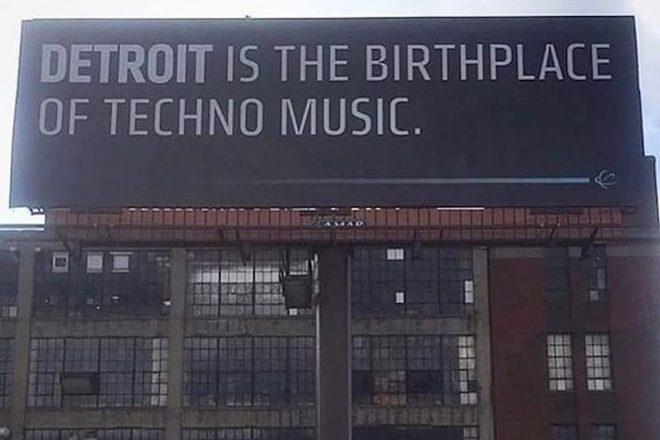 Plakat in Detroit erinnert an die Geburtsstätte von Techno
