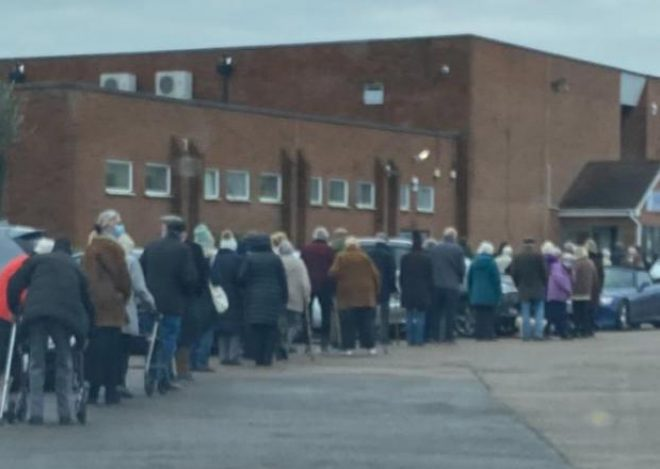 """Police turned up for a reported """"rave"""", but it was just pensioners queueing for a vaccination"""