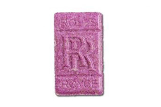 Police have issued a warning about pink 'Rolls Royce' ecstasy pills